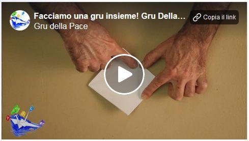 Istruzioni per come piegare un origami di una Gru della Pace.